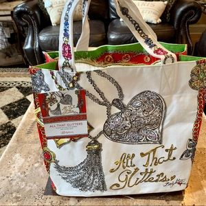 """BRIGHTON """"All That Glitters"""" BNWT Large Tote"""